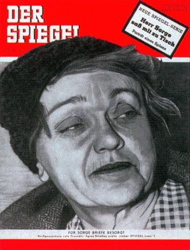 Agnes Smedley, Original Zeitung DER SPIEGEL vom 13.6.1951 bis 19.6.1951