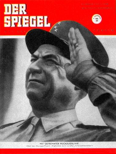 Original Zeitung DER SPIEGEL vom 29.8.1951 bis 4.9.1951