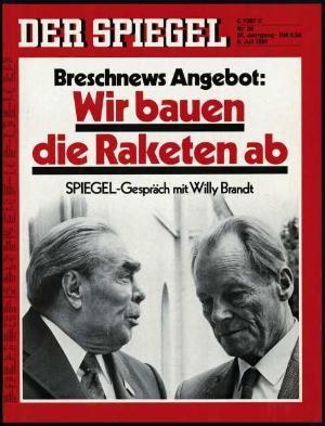 Der Spiegel 28/1981, Zeitung 6.7.1981, 7.7.1981, 8.7.1981, 9.7.1981, 10.7.1981, 11.7.1981, 12.7.1981
