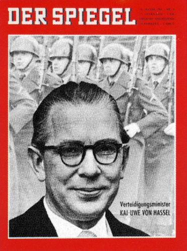 Der Spiegel 3/1963, Kai Uwe von Hassel