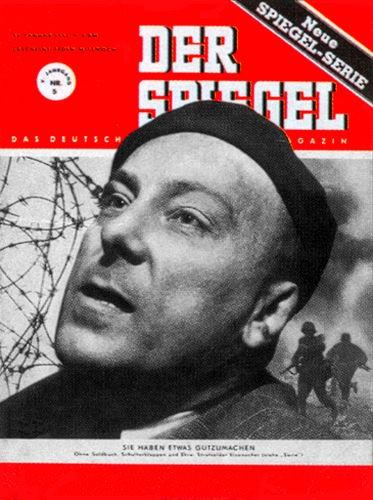 Strafsoldat Eisenacher, Original Zeitung DER SPIEGEL vom 31.1.1951 bi