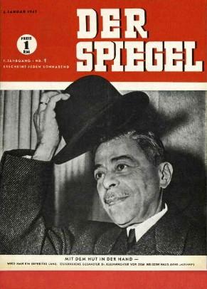 Mit dem Hut in der Hand, Der Spiegel Erstausgabe, Spiegel Nummer 1