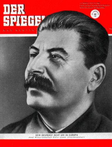 Der Spiegel Stalin, Cover Stalin, Spiegel 12/1953