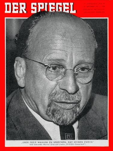 DER SPIEGEL Nr. 39, 25.9.1957 bis 1.10.1957