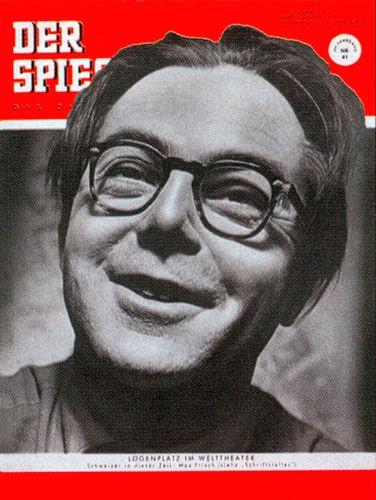 Zeitung 7.10.1953 , Max Frisch
