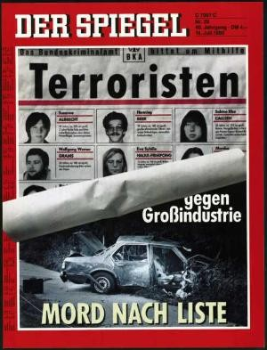 DER SPIEGEL Nr. 29, 14.7.1986 bis 20.7.1986
