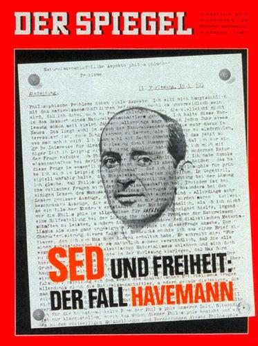 25.3.1964, 26.3.1964, 27.3.1964, 28.3.1964, 29.3.1964, 30.3.1964, 31.3.1964, Zeitung DER SPIEGEL 25.3.1964, SED und Freiheit : Der Fall Havemann, DER SPIEGEL 13/1964