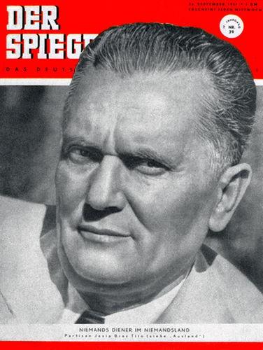 Josip Broz Tito, Original Zeitung DER SPIEGEL vom 26.9.1951 bis 2.10.1951