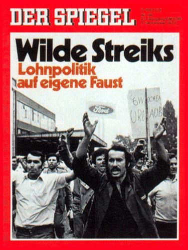 Original Zeitung DER SPIEGEL vom 3.9.1973 bis