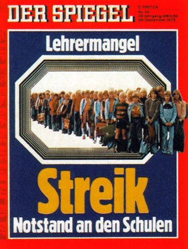 DER SPIEGEL Nr. 40, 29.9.1975 bis 5.10.1975