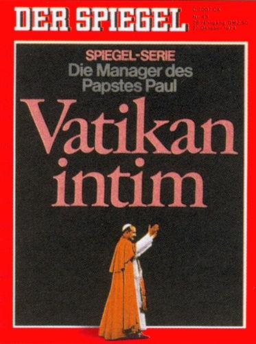 DER SPIEGEL Nr. 43, 21.10.1974 bis 27.10.1974