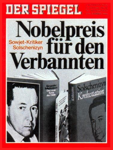 Original Zeitung DER SPIEGEL vom 12.10.1970 bis 18.10.1970