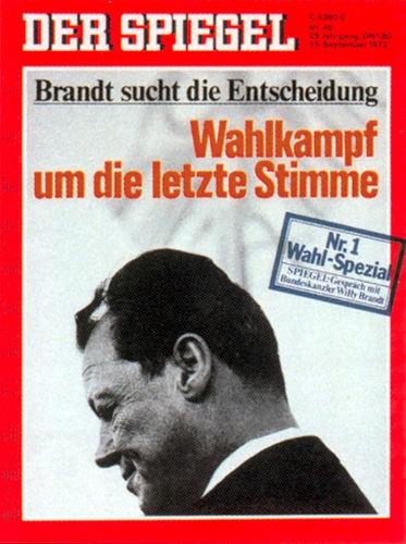 DER SPIEGEL Nr. 40, 25.9.1972 bis 1.10.1972