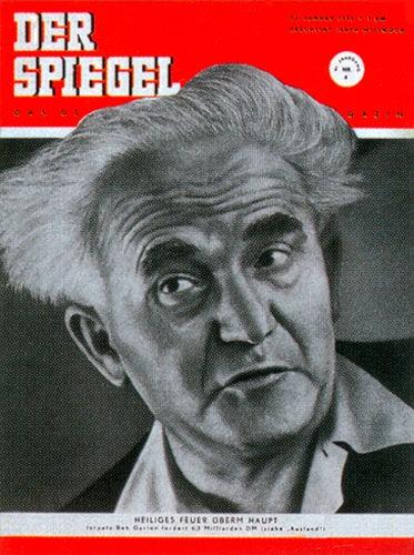 Zeitung 23.1.1952 , Ben Gurion