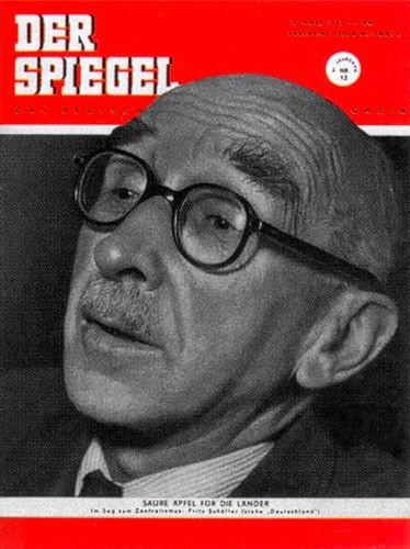 DER SPIEGEL Nr. 13, 26.3.1952 bis 1.4.1952