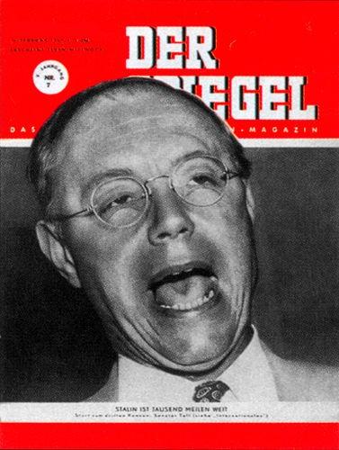 Senator Taft, Original Zeitung DER SPIEGEL vom 14.2.1951 bis 20.2.1951