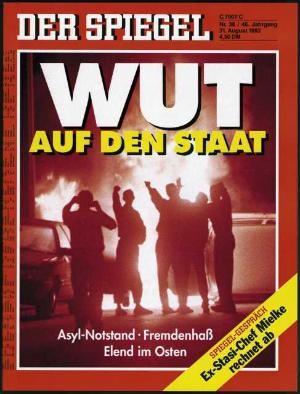 DER SPIEGEL Nr. 36, 31.8.1992 bis 6.9.1992